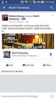 Warih-Homestay-Cik-Rahima-MPFC-Testimoni-FB