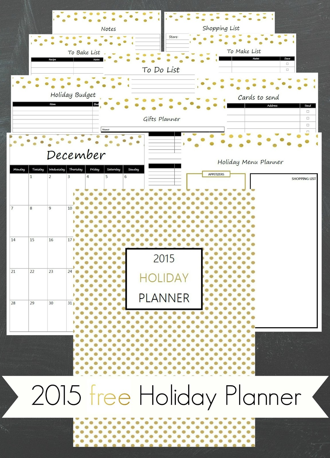 Ioanna's Notebook - 2015 Free printable Holiday Planner