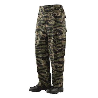 Tru-Spec 1628 Mens BDU Pants, Twill, Vietnam Tiger Stripe