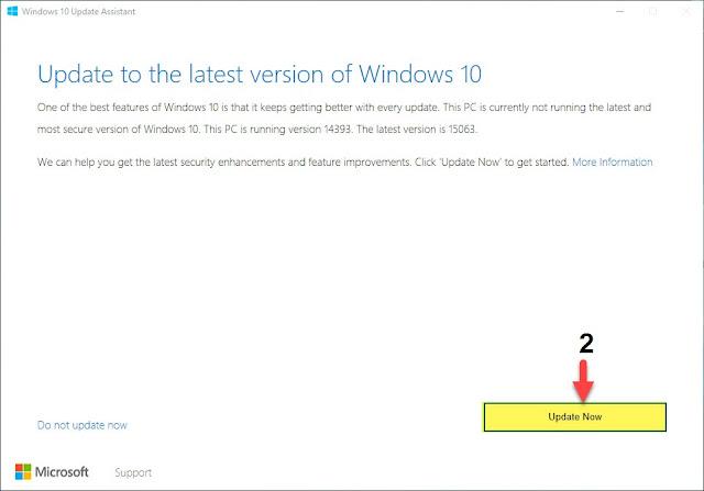 طريقة تحديث ويندوز 10 يدويا اخر اصدار Creators Update
