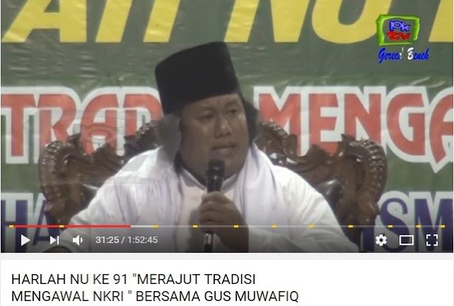 Gus Muwafiq: Orang yang Mengharamkan Pancasila dan Rokok Itu Dosanya Tidak Habis-Habis