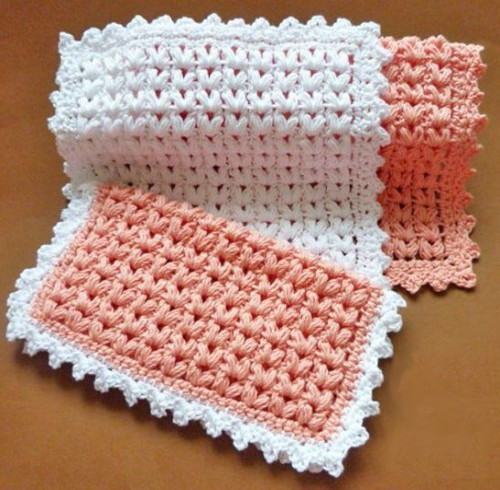 Puff Stitch Dishcloth - Free Pattern