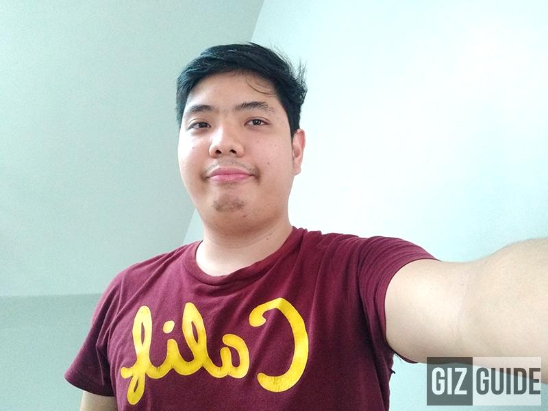 Daylight selfie with bokeh