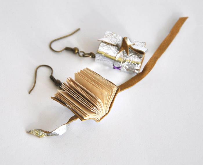 6b0b2c3c1af94f książeczki miniaturki: kolczyki książki srebrne
