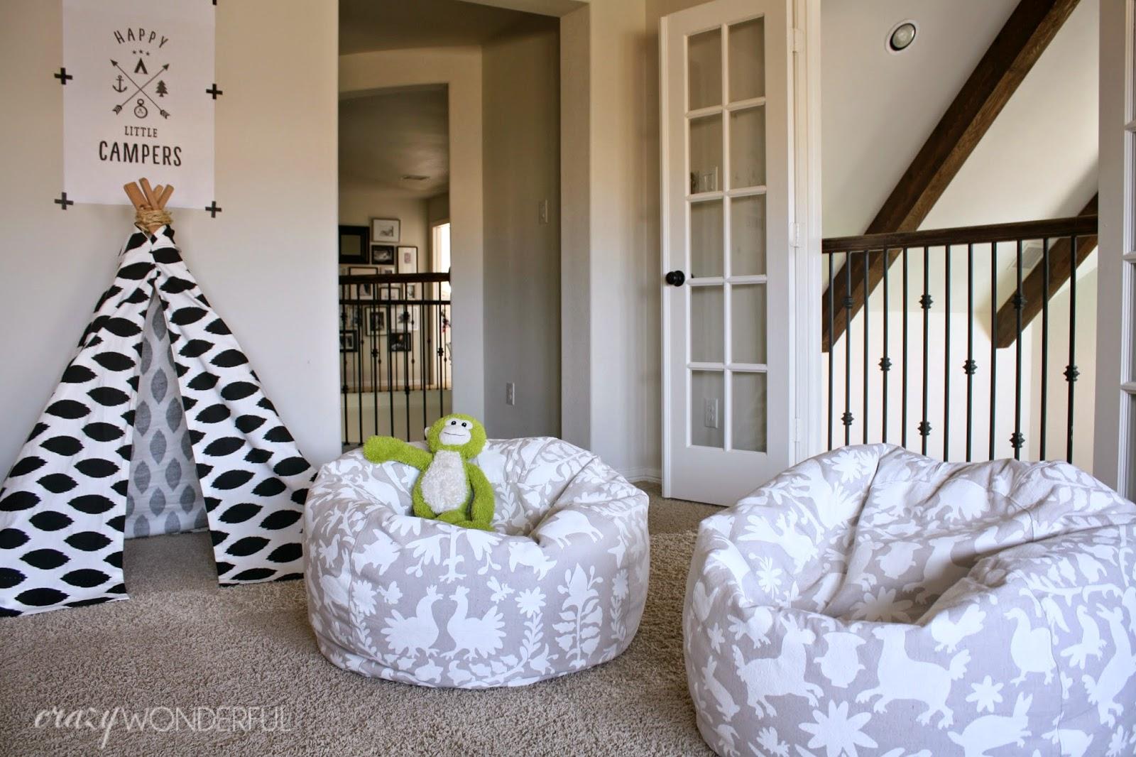 Otomi Print Bean Bag Chair Diy Crazy Wonderful