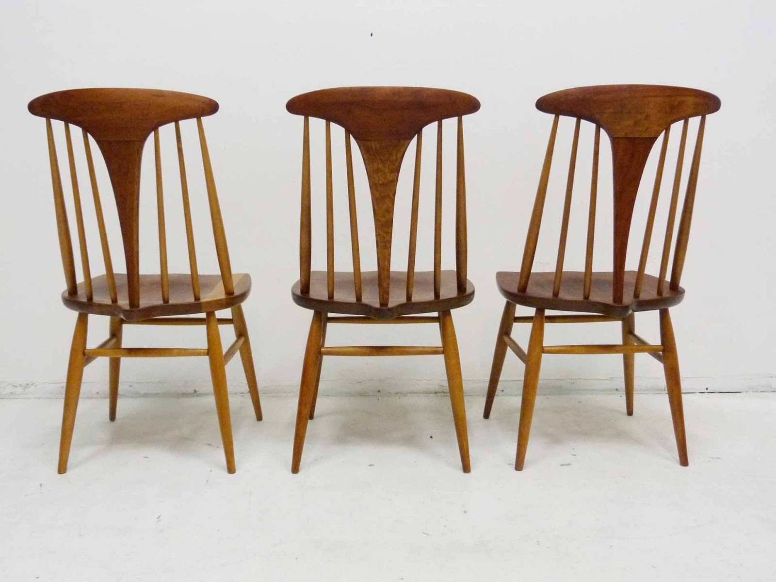 Affordable Heywood Wakefield Dowel High Back Midcentury Doeskin Dining  Chairs Set Back With Heywood Wakefield Furniture.