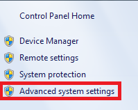 pilih advanced system settings pada windows 7
