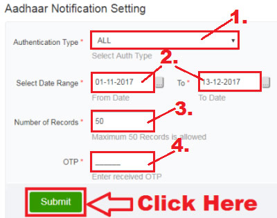 how to check my aadhaar authentication history online