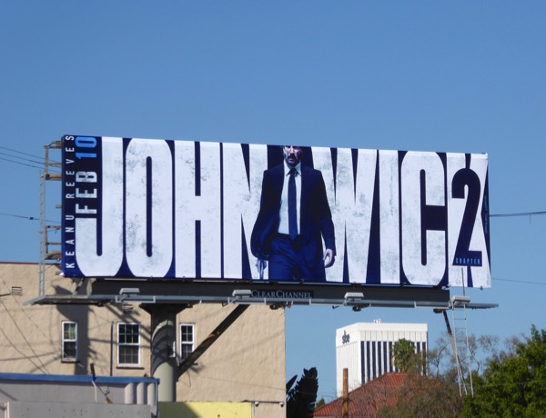 John Wick Chapter 2 movie billboard