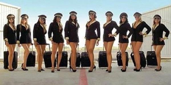 مضيفات الخطوط الجوية الفرنسية بالمايوه بدلا من الحجاب