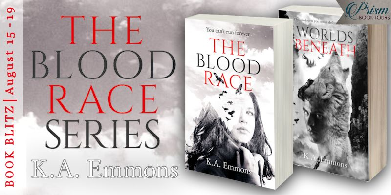 We're blitzing about THE BLOOD RACE and WORLDS BENEATH by K.A. Emmons!
