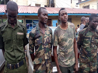 fake soldiers arrested lagos