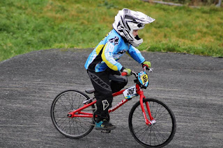 jacob from belfast city bmx club at lisburn bmx winter series round 1