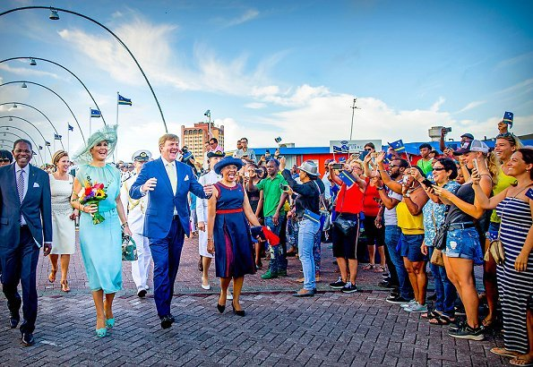 Queen Maxima wore Natan dress and Sergio Rossi sandals for Curacao Anthem and Flag Day 2018 events