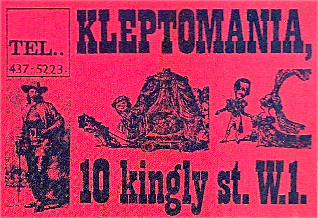 Kleptomania 1960s Boutique Carnaby Street London, book blogger,