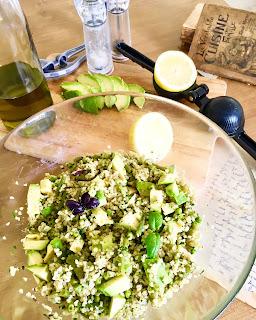 image Salade de boulgour, haricots verts, petits pois et avocat