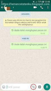 Tampilan chatting whatsapp