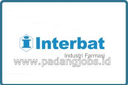 Lowongan Kerja Padang: PT. Interbat (Farmasi) Juli 2018