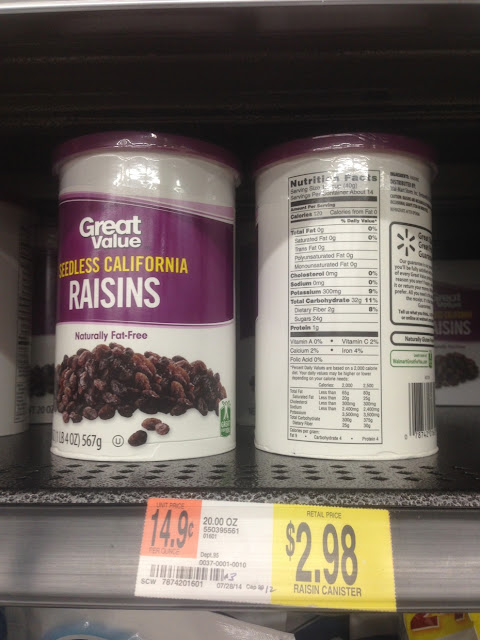 Raisins, Great Value, 20 oz - Walmart