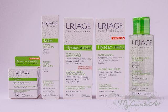 Antiacne Phys-AC de A-Derma y Hyseac Regul de Uriage.