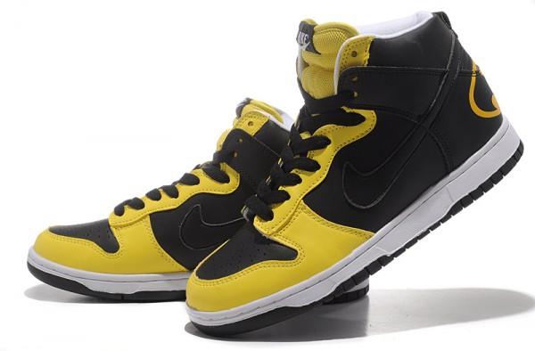 batman and robin nike dunks Nike Dunk SB High Men Batman Black Yellow 1 de68d9903