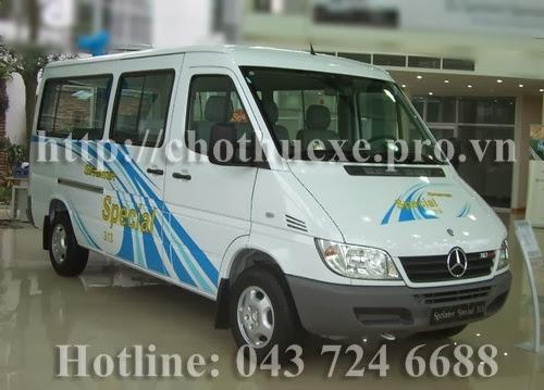Cho thuê xe 16 chỗ Mercedes Sprinter tại Hà Nội