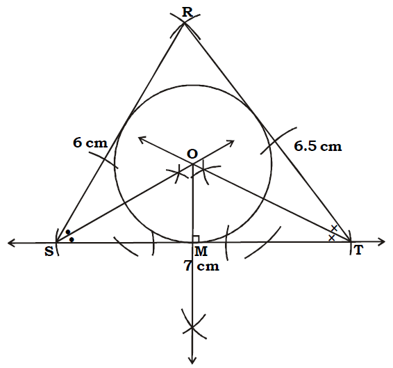 OMTEX CLASSES: 5. Construct the incircle of ∆RST in which