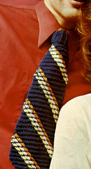 The Vintage Pattern Files: Free 1960's Knitting Pattern - Men's Knit Tie