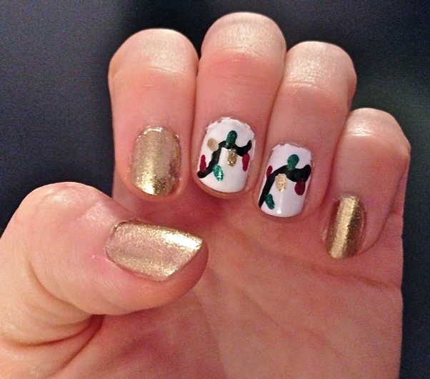 Christmas Lights Nails Pinterest: Nail Art - Christmas Lights!