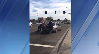 Donald Trump, Jr. Helps Push A Broken Car Off Valley Freeway