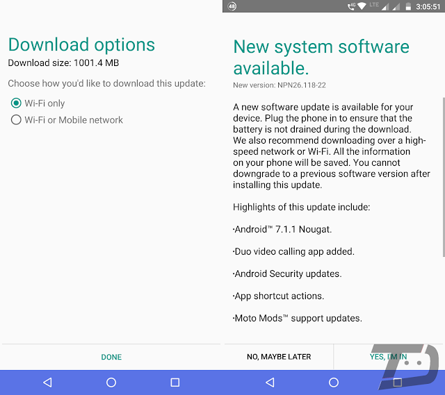 Motorola Moto Z Play is finally getting Android 7.1.1 Nougat update in India