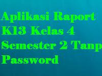 Aplikasi Raport K13 Kelas 4 Semester 2 Tanpa Password
