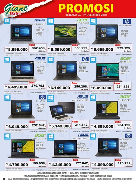 promo giant elektronik laptop
