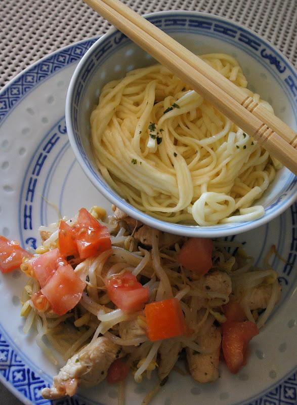 Wok poulet germes de soja au gingembre - Cuisiner les germes de soja ...