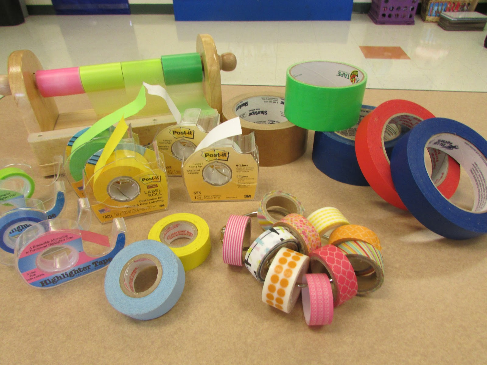TAPE IN THE CLASSROOM | Peace, Love, and First Grade