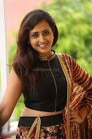 Lasya looks super cute in black choli Saree at Raja Meru Keka Press Meet ~  Exclusive 059.JPG