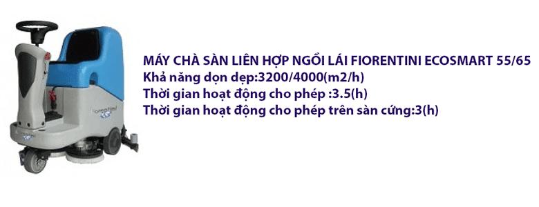 MÁY CHÀ SÀN LIÊN HỢP NGỒI LÁI FIORENTINI ECOSMART 55/65