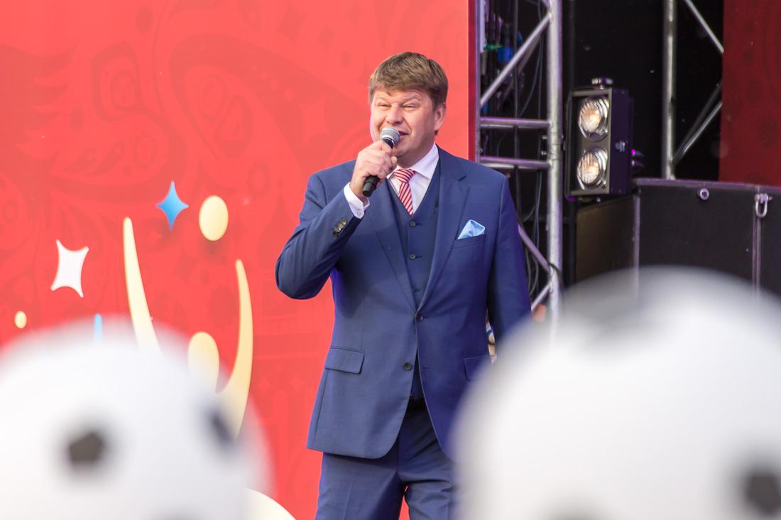 Дмитрий Губерниев ведущий фан-феста в Саранске 12.06.2018
