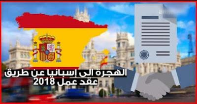 لهجرة الى اسبانيا بعقد عمل