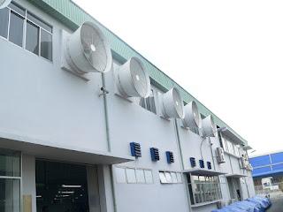 Quạt hút gió công nghiệp được sử dụng nhiều nơi