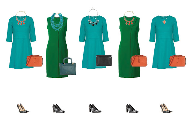 Нарядные комплекты капсульного гардероба с платьями и аксессуарами