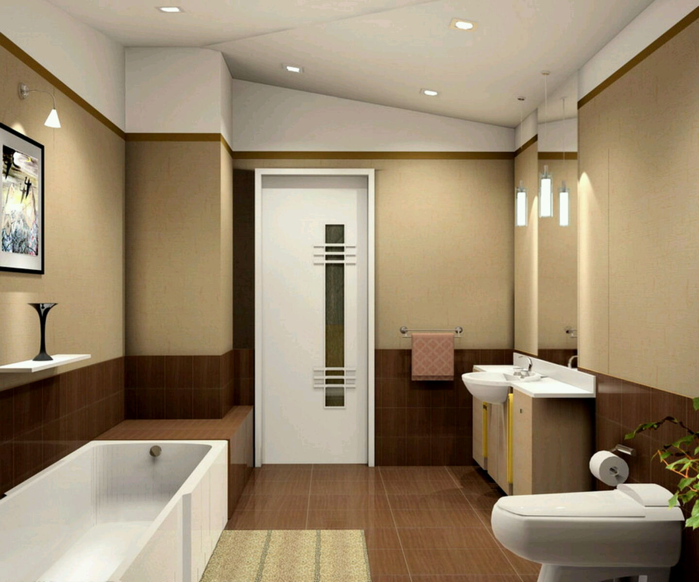 Bathrooms: Modern Bathrooms Setting Ideas.