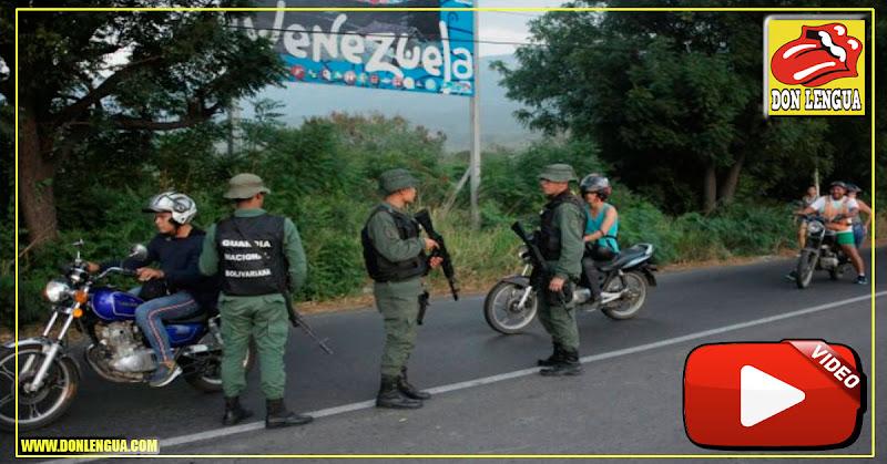 Llegan a Las Tienditas cientos de guardias y militares armados hasta los dientes