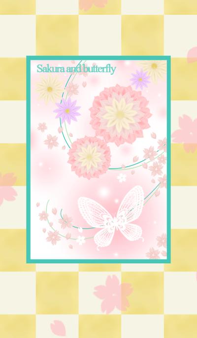 Sakura and butterfly..