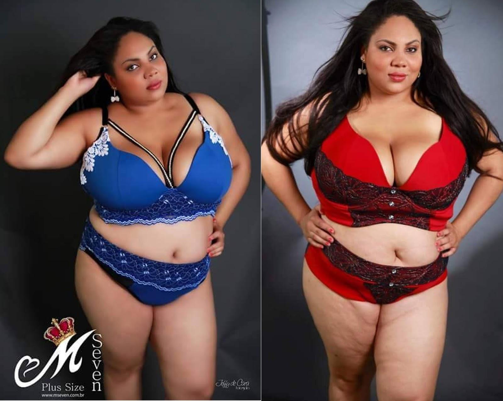 24076c0c5 M. Seven Lingeries para mulheres plus sizes reais – Tempo Fashion