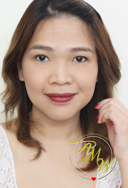 a photo of Nikki Tiu wearing Sugar Tint Lip and Cheek Tint Review in Sugar Rush and No Filter.
