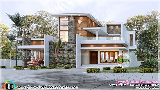 2371 sq-ft 3 bedroom contemporary style house