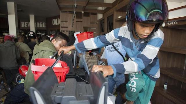 Polisi Tetapkan 45 Orang Tersangka Penjarahan Gempa Palu