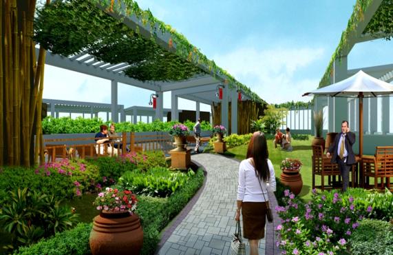 không gian sống xanh tại Green Pearl Minh Khai