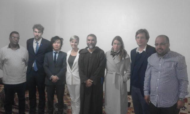 تجمع المدافعين الصحراويين عن حقوق الإنسان CODESA يلتقي بعثة دبلوماسية من الدول الاسكندينافية المعتمدة بالرباط / المغرب
